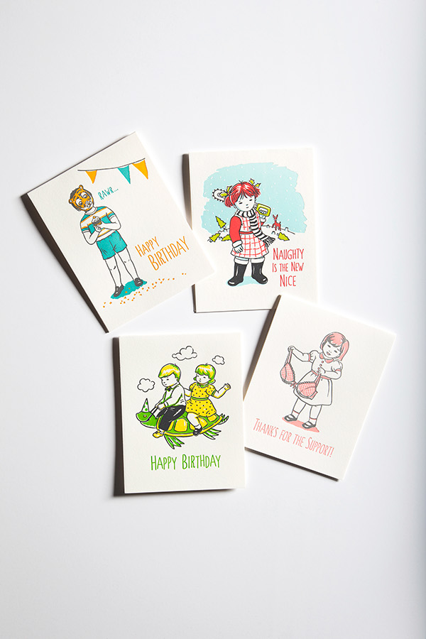 Ming Ong for Tiselle Letterpressed Greeting Cards on Behance