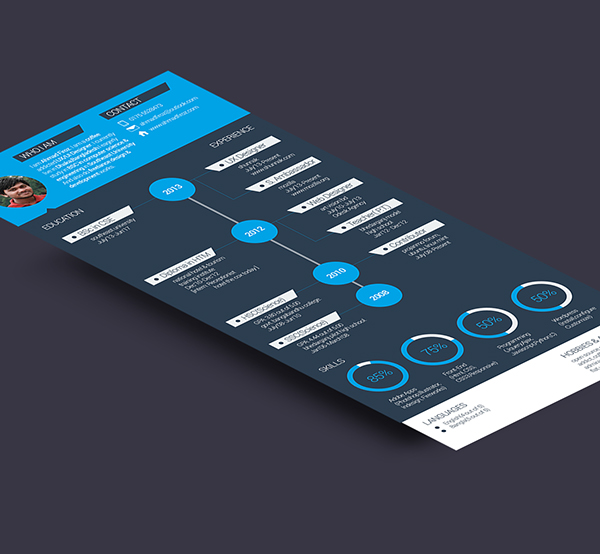 flat resume template free on behance