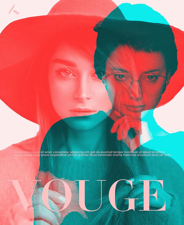 Vouge Poster Design By Farrukh Mumtaz