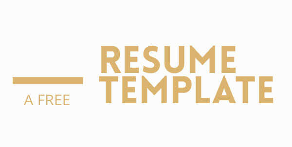 design free template Resume CV freebie minimal minimalistic type color b&w psd photoshop Powerpoint