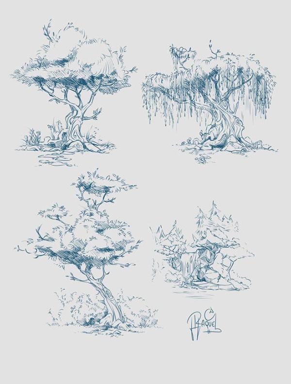 Concept Art of Trees on Behance