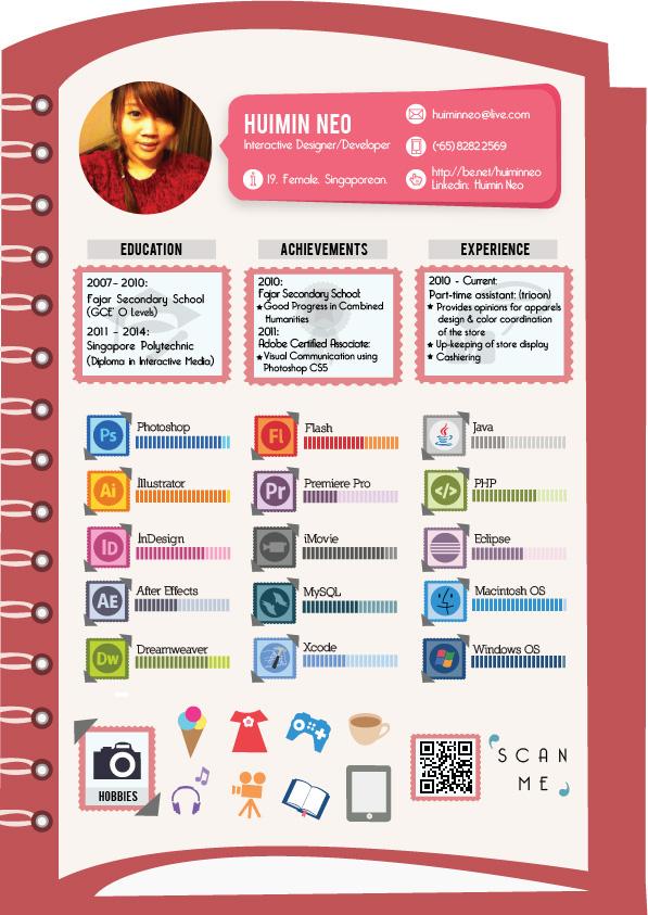 infographic resume c v on behance