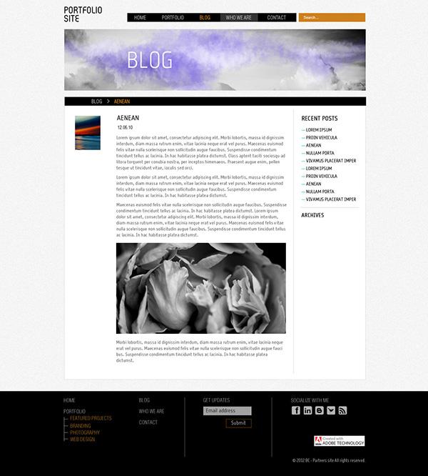 Adobe business catalyst website design portfolio gallery by free free business catalyst templates wajeb Gallery