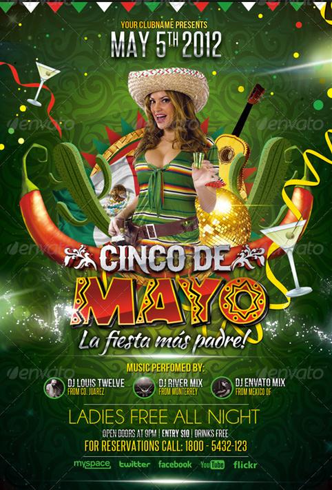 Cinco de Mayo Party Flyer on Behance
