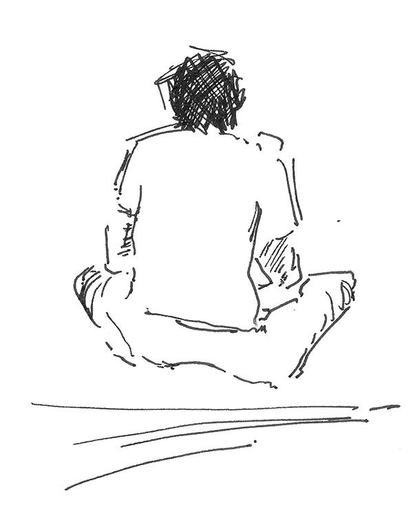 sketch sketches doodle crocky Entrance examination lost found black pen paper quick