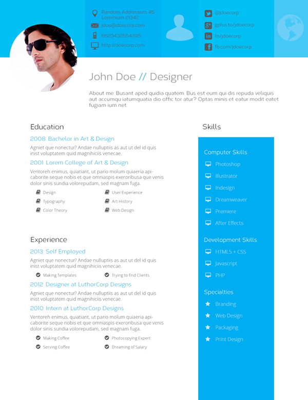 u0026quot flat design u0026quot  resume template on pantone canvas gallery