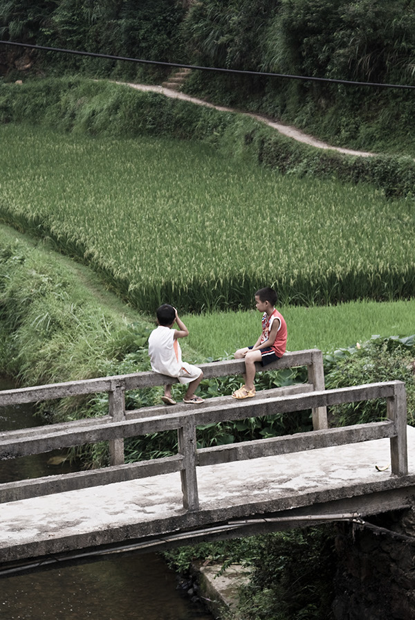 china guilin people countryside