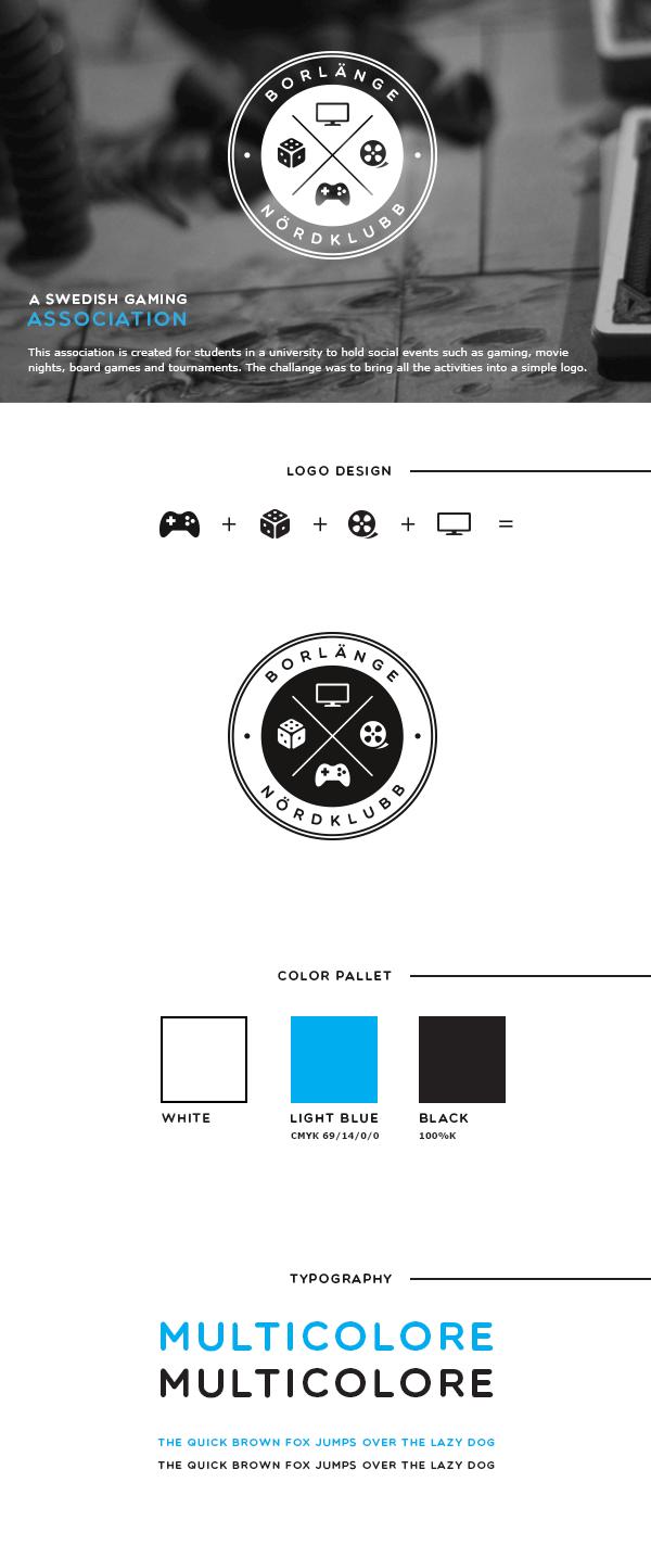 Gaming Association badge seal logo design identity portfolio board game video game movie geek club icons Logo Design