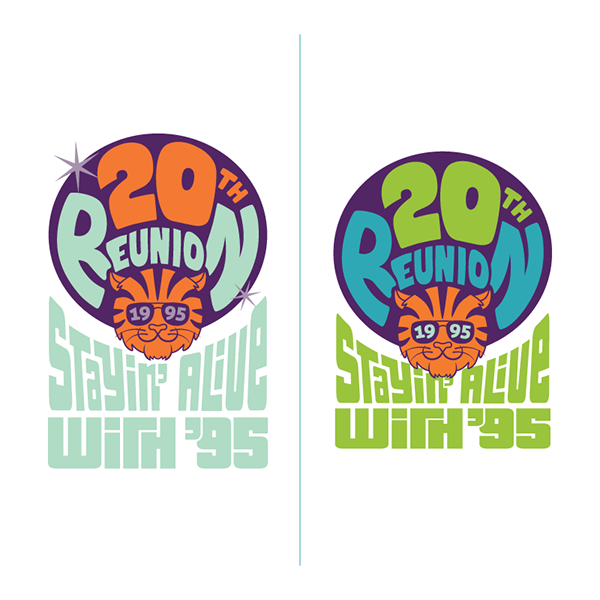princeton,reunion,class,70's,disco,psychedelic,logo,school