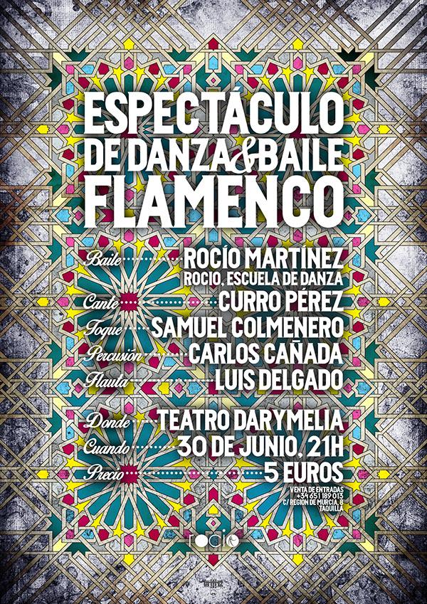 Show DANCE   school Dani tinez Danitinez Rocio Dance School graphic design ad