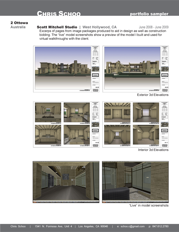 Architectural Portfolio Samples image information