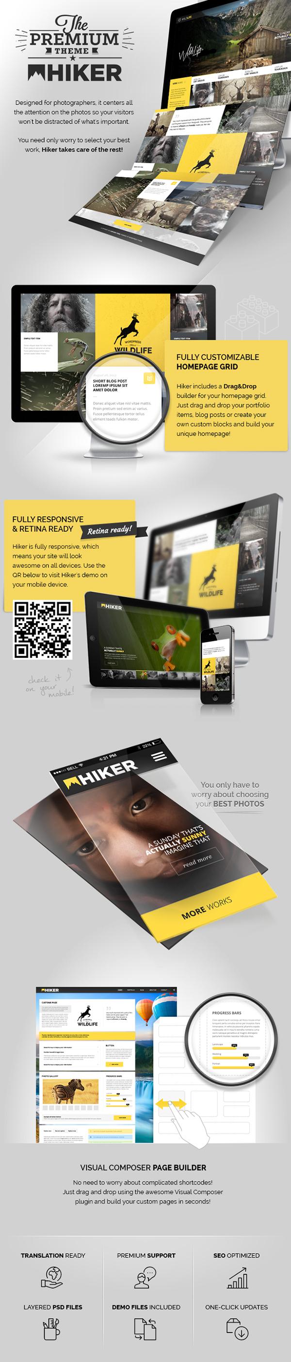 Photography WordPress Theme portfolio wordpress Theme template Web design wp photo presentation