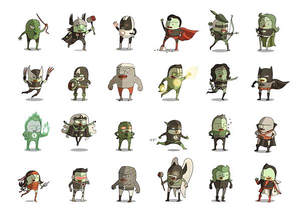 Character Design Zombie : Superheroes halloween zombie edition on character design