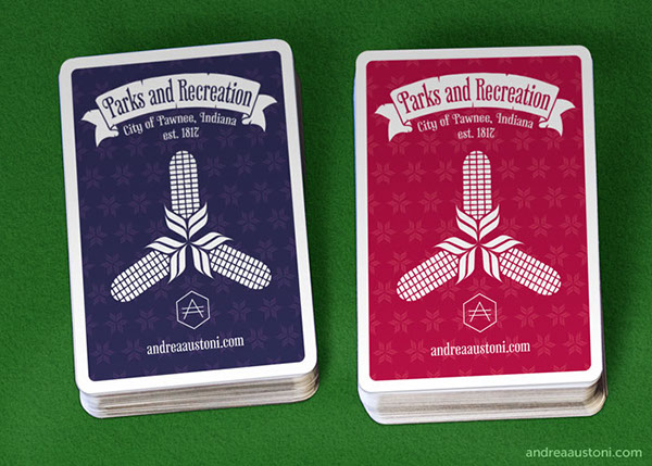 Parks And Recreation Playing Cards On Behance