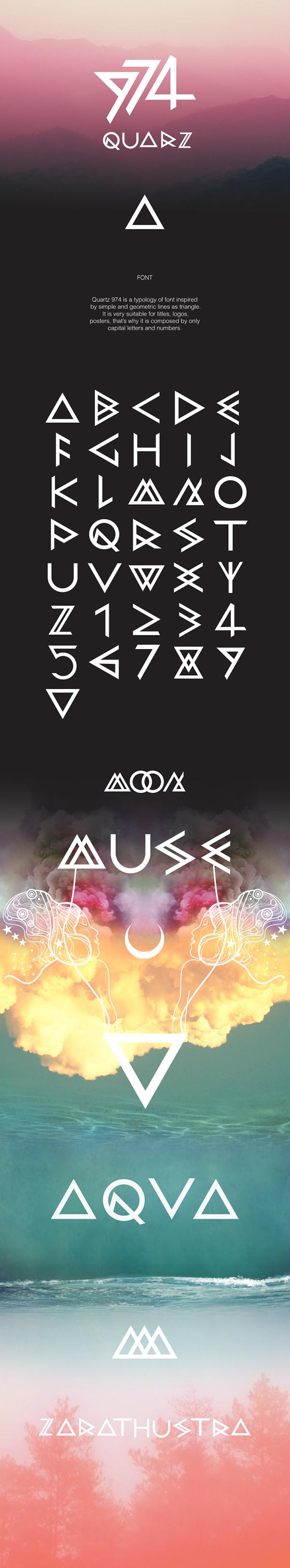 font typo domenico ruffo quarz cool quarz 974 triangle geometric minimal Style Hipster hipster style free freedom