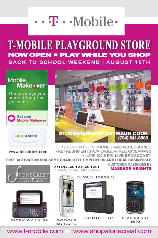 Grand opening flyer for t mobile store on behance for Onlineshop fur mobel