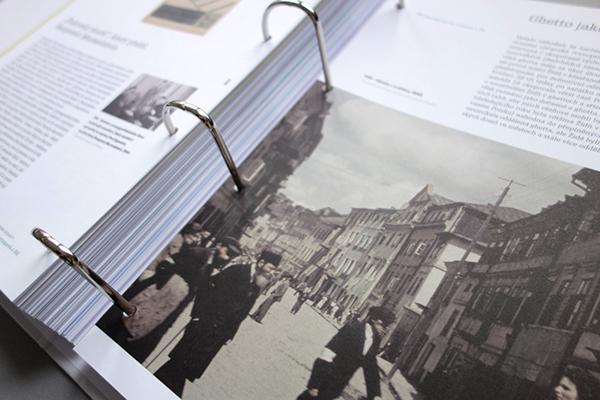 book print museum educational edu jewish history logo brand visual identity map folder