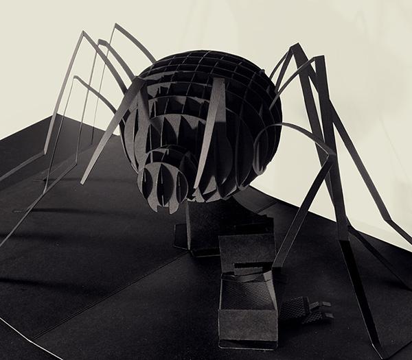pop-up spider araña noche