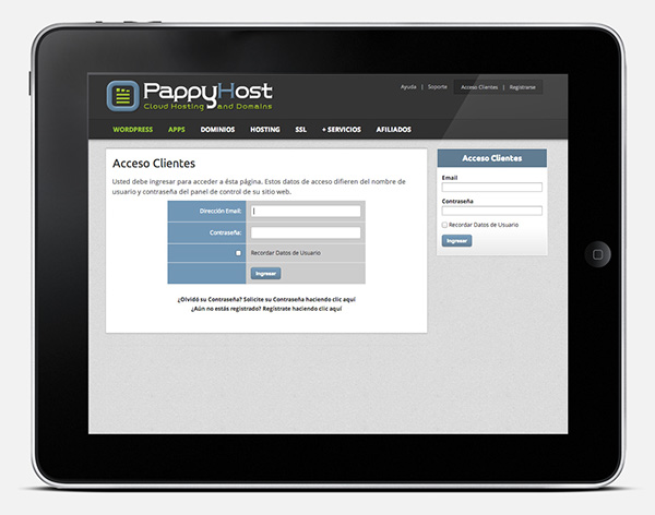 PappyHost Web Site