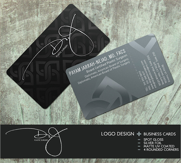Graphic design on wacom gallery dr j plastic surgery business card logo design reheart Gallery