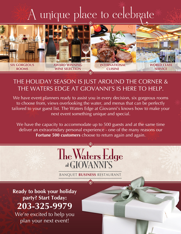 The Waters Edge at Giovanni's Corporate Events Ads on Behance