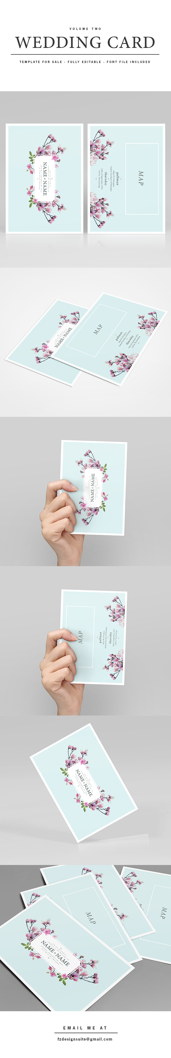 For sale wedding invitation template volume 2 on behance for Wedding invitation template for sale