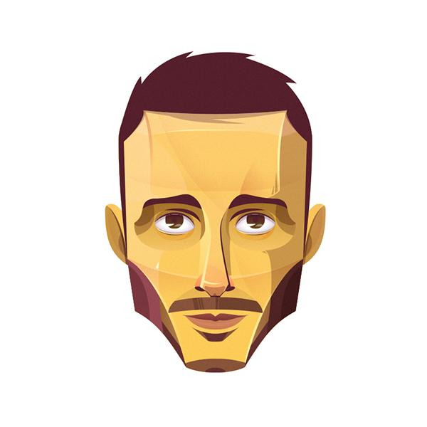 claudio scotto claudio Scotto portrait self self portrait geometric vector Illustrator solid vectorize