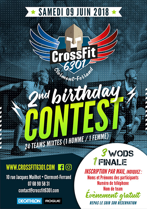 flyer Crossfit auvergne sport contest