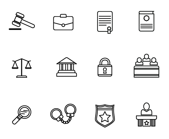 legal,icons,lines,simple,black and white,free,CC0,flat