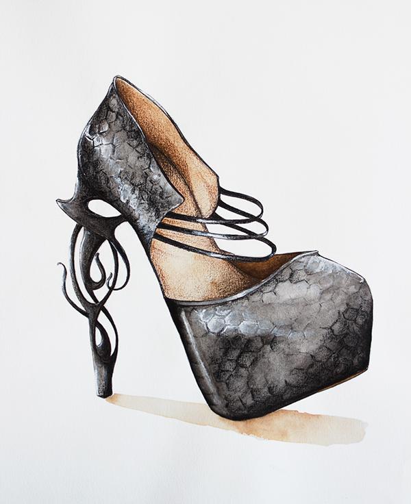 shoe heel fantasy Snake Skin pump