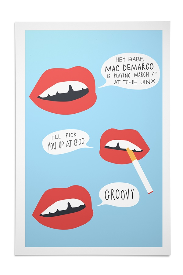 How To Design Poster On Mac: Mac DeMarco Poster on SCAD Portfoliosrh:portfolios.scad.edu,Design