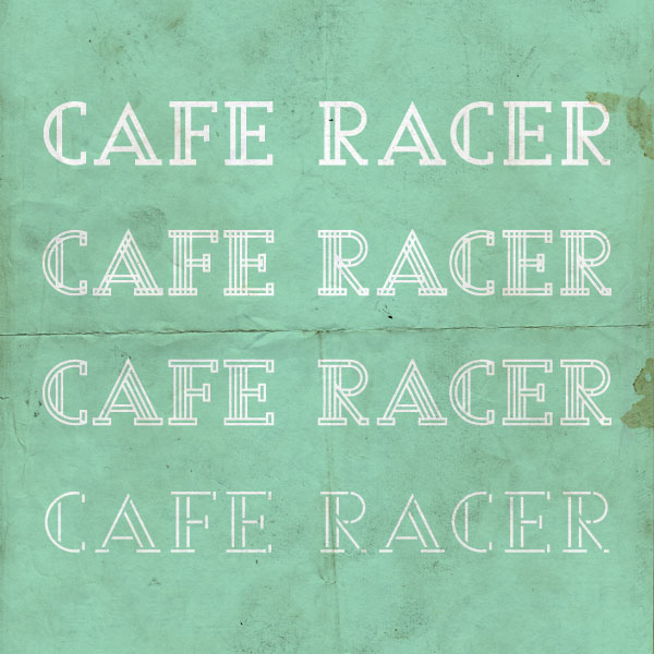cafe racer typography on behance