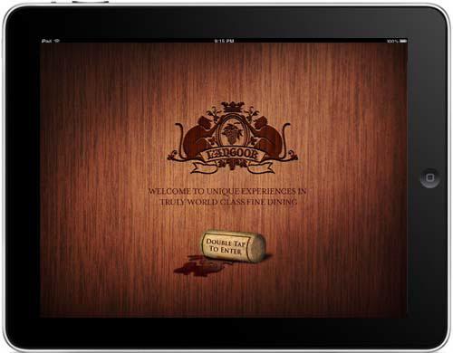 l angoor fine dining ipad menu design on behance