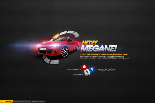 renault  megane interactive Show contest Wheel of Fortune robot live stream social media reality advergame