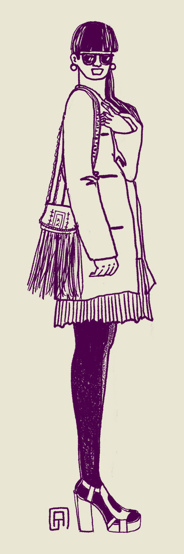 street fashion street wear sketching sketches outfitoftheday OOTD people streetstyle fashion illustration