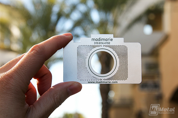 Custom camera shaped stainless steel business card on behance colourmoves