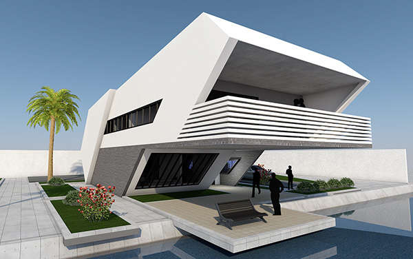 Future Home Designs 2050 Of A Simple Futuristic House On Behance