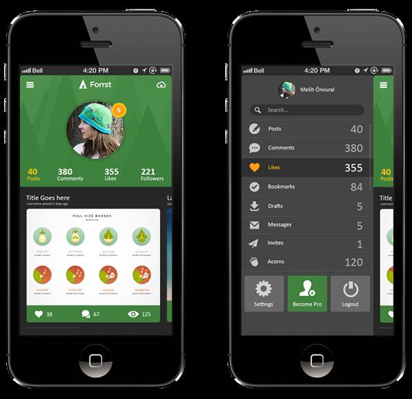Forrst Mobile App UI design..! on Behance