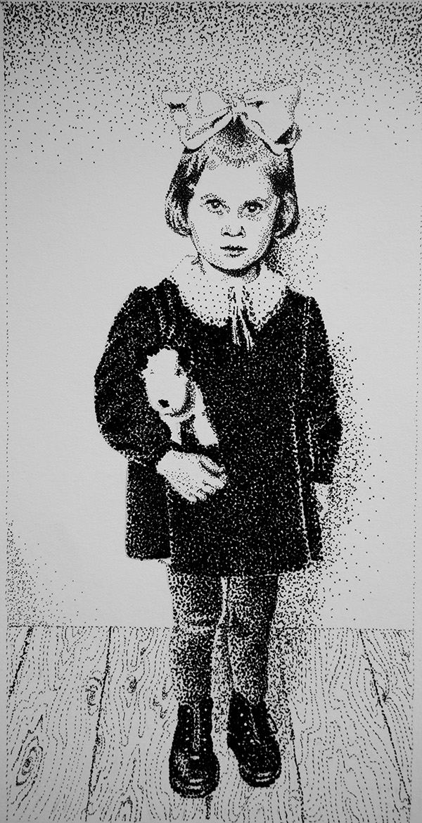 dotwork old photo stippling Black&white