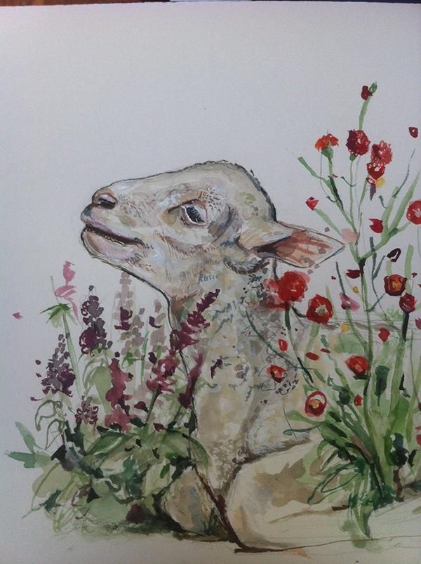 watercolor graphite animals