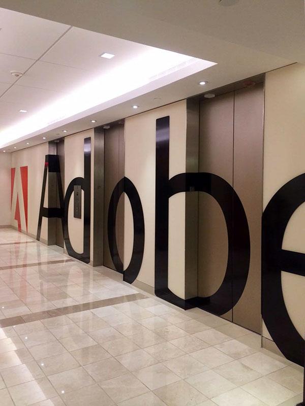 Adobe Workplace Nyc Elevator Lobby Branding On Behance