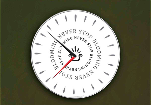 clock home design brand logo pattern Office ikea mock up wall clock revamp gift recycling reactivation