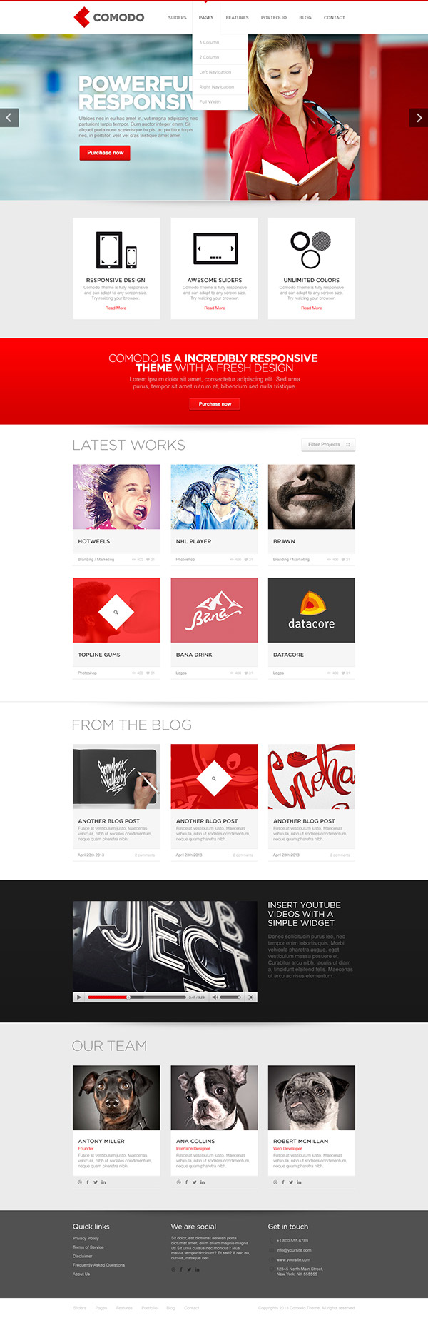 wordpress HTML Theme creative psd themeforest