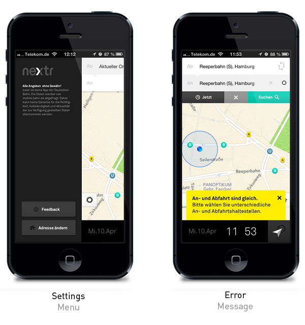 nextr app   public transportation guidance on Behance