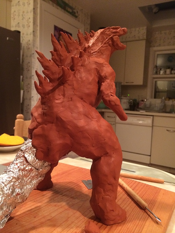 Godzilla 2014 Maquette Wip On Behance