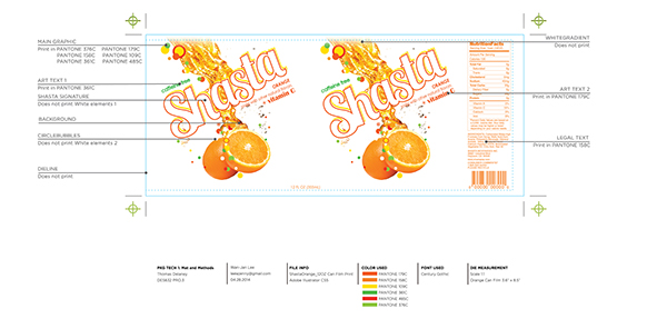 Shasta soda rebrand on pratt portfolios for Edesign login