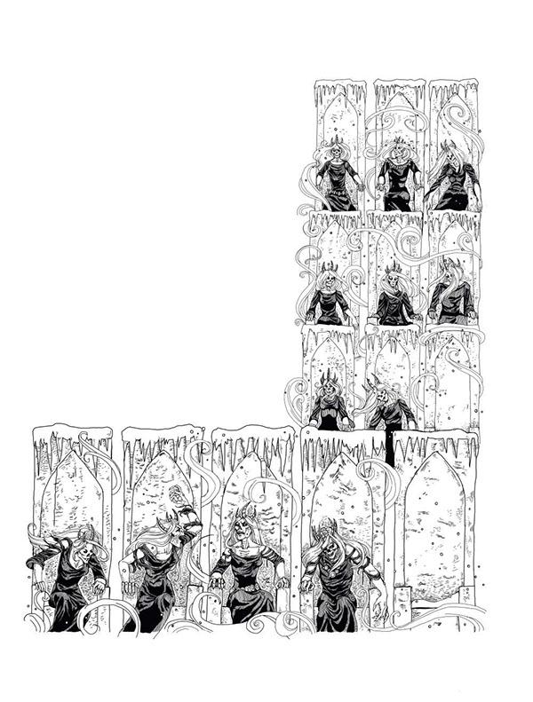 fantasy Reign of Winter Paizo Publishing black and white Painter X Baba Yaga Vigliv undead