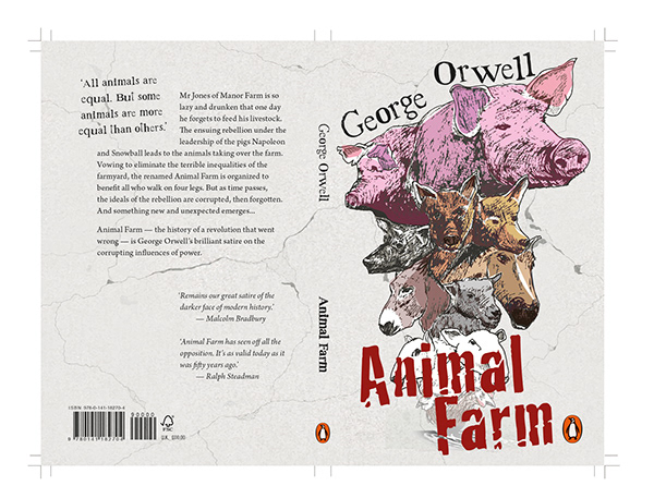 Animal Farm Book Cover On Student Show