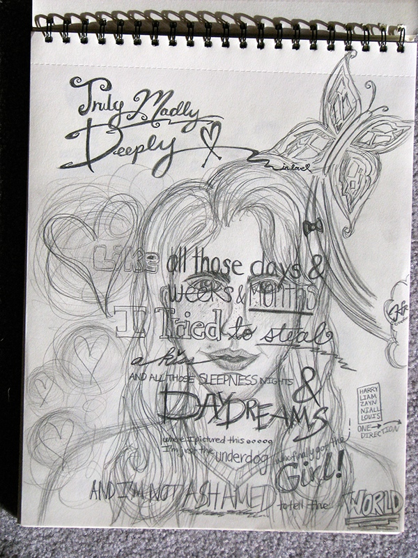 One Direction Song Lyric Drawings 3aa2273624b1168c46731219ad380