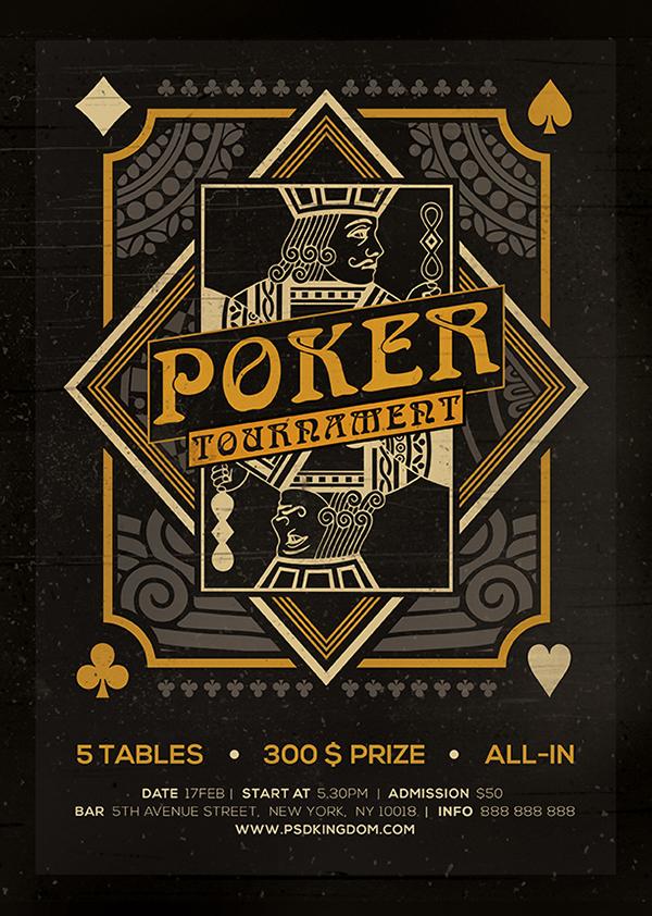 Poker Magazine Ad, Poster or Flyer - Flat & 3D on Behance